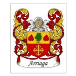 Arriaga Family Crest Small Poster