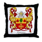 Arriaga Family Crest Throw Pillow