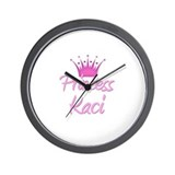 Princess Kaci Wall Clock