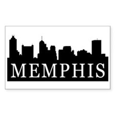 Memphis Skyline Rectangle Sticker 10 pk)