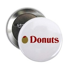 """Olive (I Love) Donuts 2.25"""" Button"""