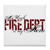 My Uncle My Hero - Fire Dept Tile Coaster