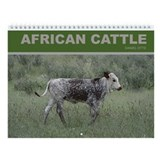 African Cattle Wall Calendar