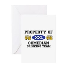 Property of Comedian Drinking Team Greeting Card