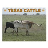 Texas Cattle Wall Calendar