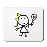 Girl & Tennis Mousepad