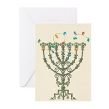 Menorah Christmas Lights Greeting Cards (Pk of 20)