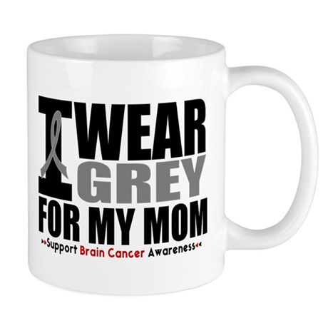 I Wear Grey Mom Mug