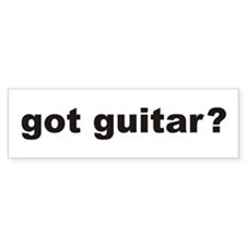got guitar? Bumper Bumper Sticker