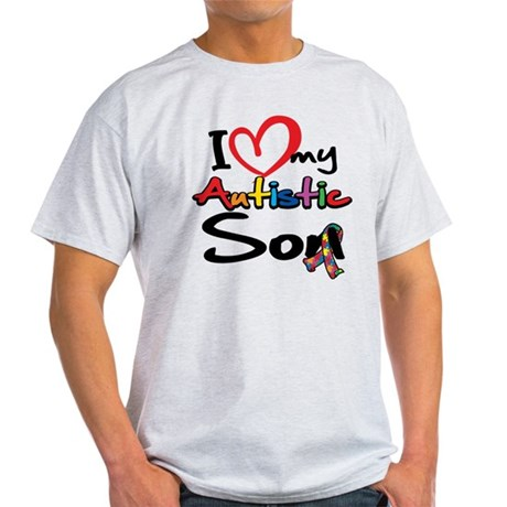 I Love My Autistic Son 2 Light T-Shirt