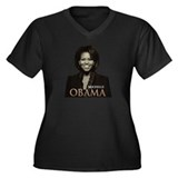 Michelle Obama Women's Plus Size V-Neck Dark T-Shi