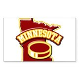Minnesota Hockey Rectangle Decal