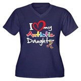 I Love My Autistic Daughter 2 Women's Plus Size V-