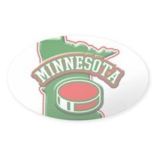 Minnesota Hockey Oval Sticker (10 pk)