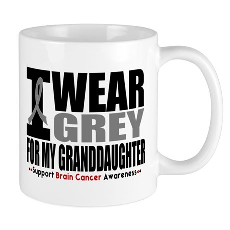 I Wear Grey Granddaughter Mug
