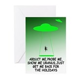 Funny alien theme holidays Greeting Cards (Pk of 1
