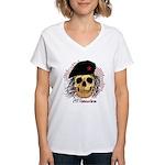 Che Sucks Women's V-Neck T-Shirt