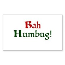 Bah Humbug Rectangle Sticker 10 pk)