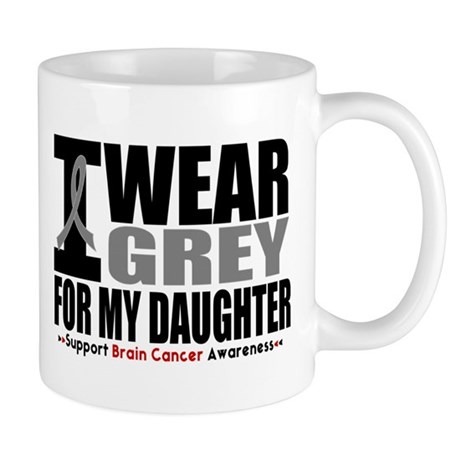 I Wear Grey Daughter Mug