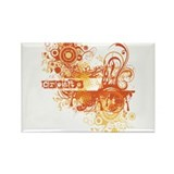 Orange Creative Chakra! Rectangle Magnet