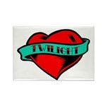 Twilight Heart Tattoo Rectangle Magnet (100 pack)