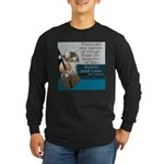 Cats and Music Long Sleeve Dark T-Shirt