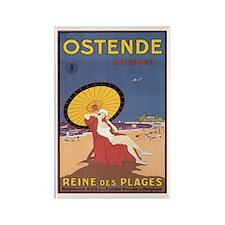 Ostend Belgium Rectangle Magnet