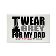 I Wear Grey Dad Rectangle Magnet (10 pack)