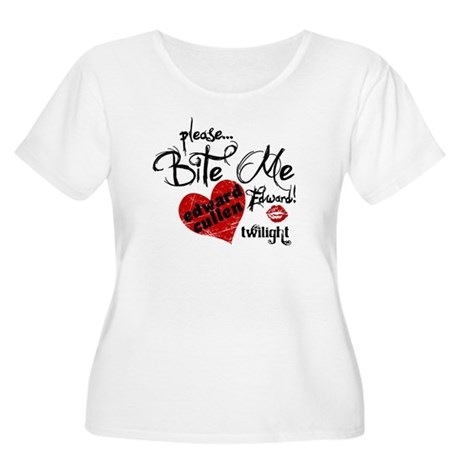 Bite Me Edward Cullen Women's Plus Size Scoop Neck