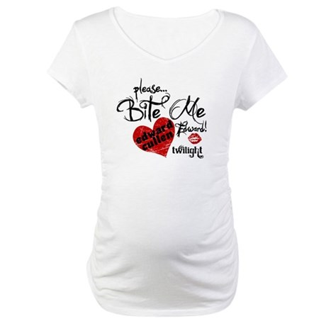 Bite Me Edward Cullen Maternity T-Shirt