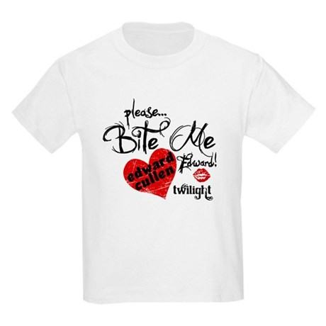 Bite Me Edward Cullen Kids Light T-Shirt