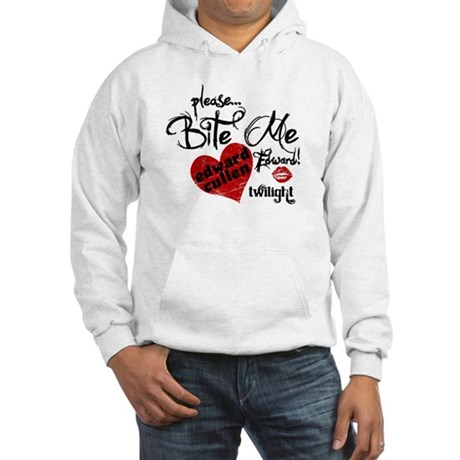 Bite Me Edward Cullen Hooded Sweatshirt