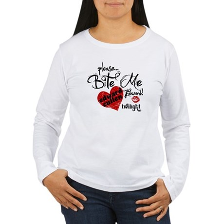 Bite Me Edward Cullen Women's Long Sleeve T-Shirt