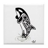 Orca Spirit Tile Coaster