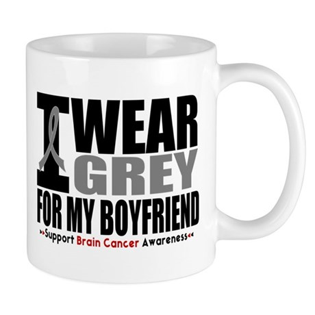 I Wear Grey Boyfriend Mug