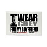 I Wear Grey Boyfriend Rectangle Magnet