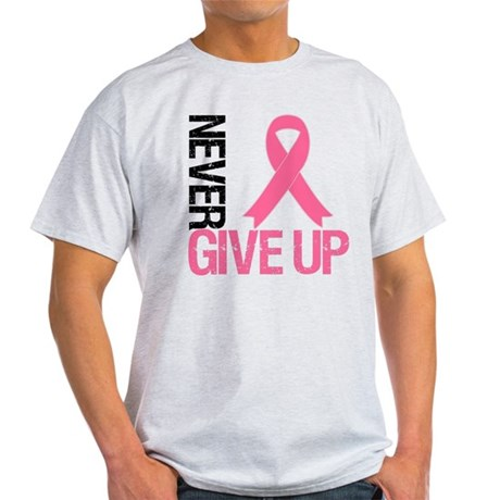 NeverGiveUp Breast Cancer Light T-Shirt