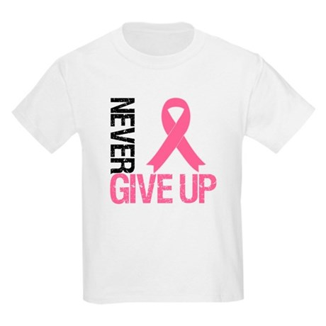 NeverGiveUp Breast Cancer Kids Light T-Shirt