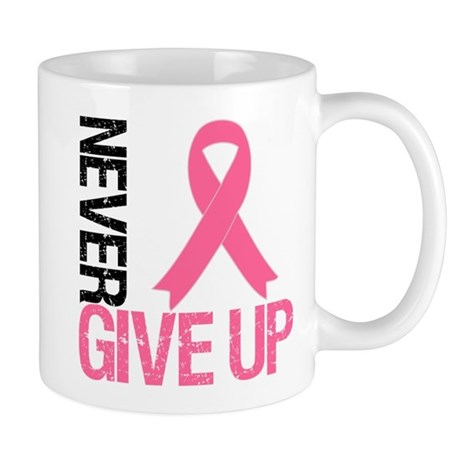 NeverGiveUp Breast Cancer Mug