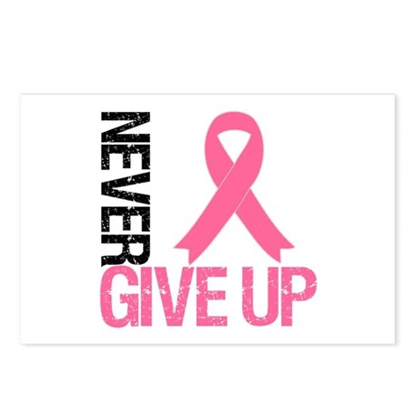 NeverGiveUp Breast Cancer Postcards (Package of 8)