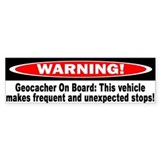 Warning! Geocacher On Board Bumper Sticker (50 pk)