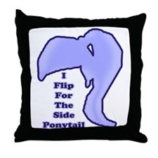 I Flip For The Side Ponytail - Throw Pillow