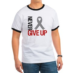 NeverGiveUp Brain Cancer Ringer T