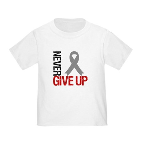 NeverGiveUp Brain Cancer Toddler T-Shirt