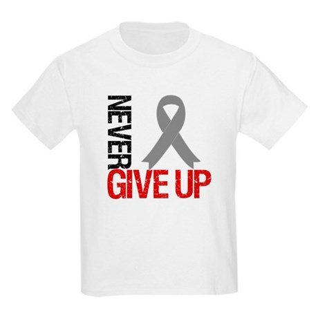 NeverGiveUp Brain Cancer Kids Light T-Shirt