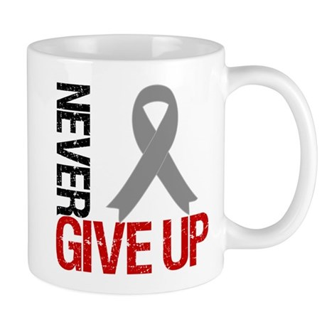 NeverGiveUp Brain Cancer Mug