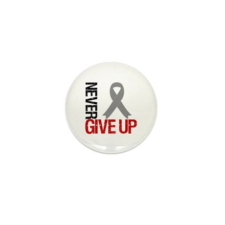 NeverGiveUp Brain Cancer Mini Button