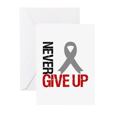 NeverGiveUp Brain Cancer Greeting Cards (Pk of 10)