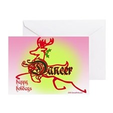 Reindeer Dancer Greeting Card