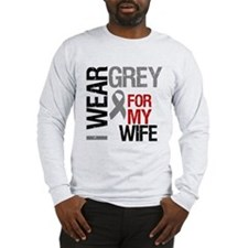 I Wear Grey (Wife) Long Sleeve T-Shirt